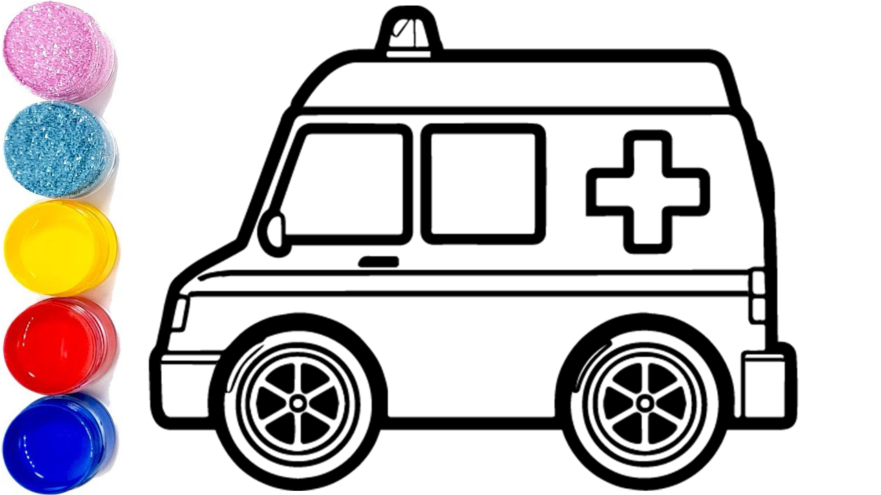1280x720 emergency ambulance drawing and coloring how to draw ambulance