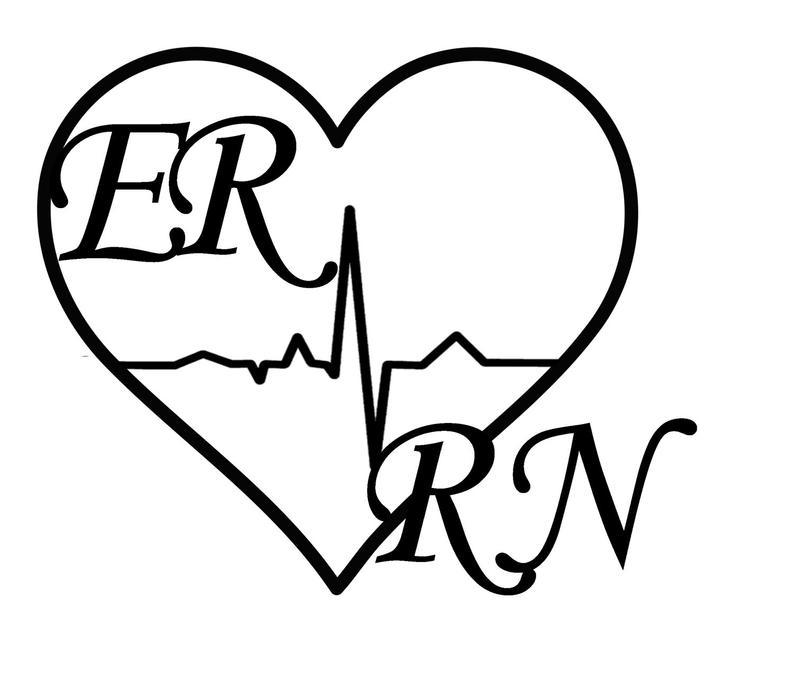 794x686 er rn nurse vinyl decal emergency room nurse nurse decal etsy