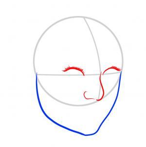 300x302 how to draw emma stone, emma stone, step