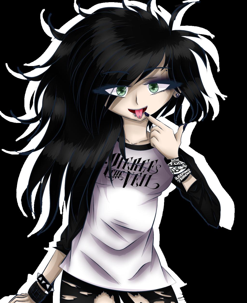 1024x1257 random drawing emo girl