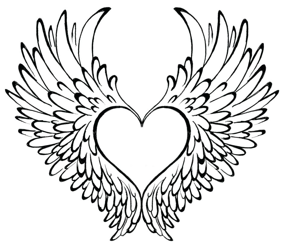 948x821 Drawings Of Hearts With Wings Drawn Hearts Emo How To Draw A Heart