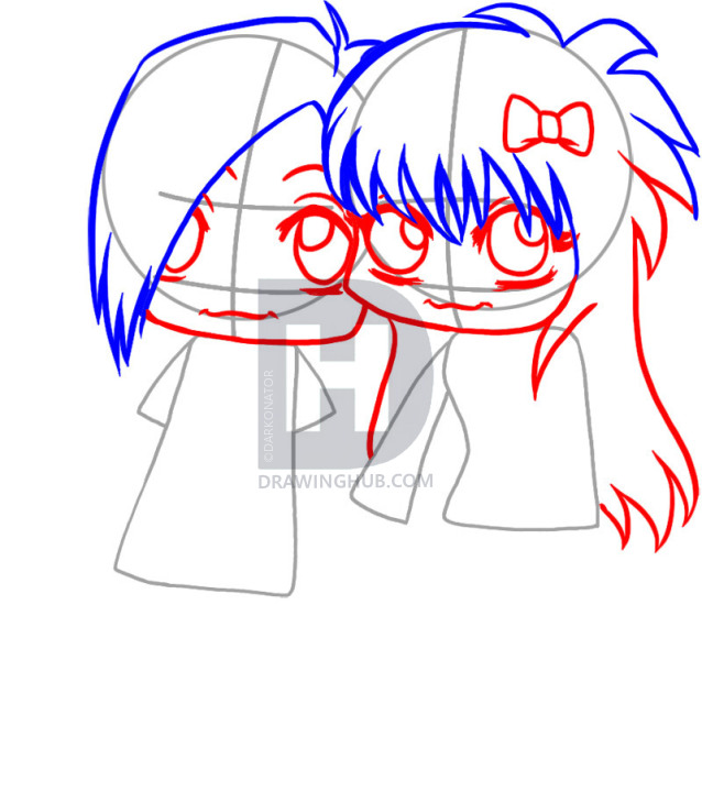638x720 How To Draw Emo Love, Step