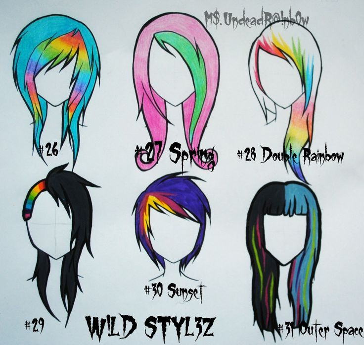 736x696 crazy hair styles in emo scene hair, crazy hair