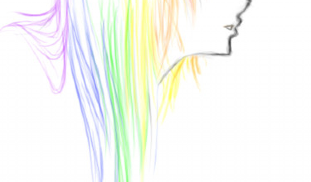 1024x600 Drawing Cartoon Hair In Illustrator Sketch Rainbow Emo