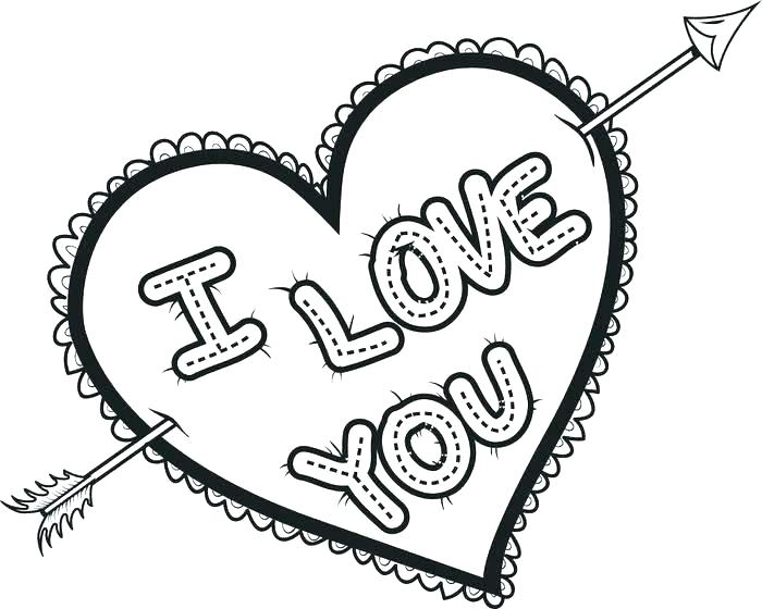 700x560 Coloring Pages Of Love Hearts Love Hearts Coloring Pages