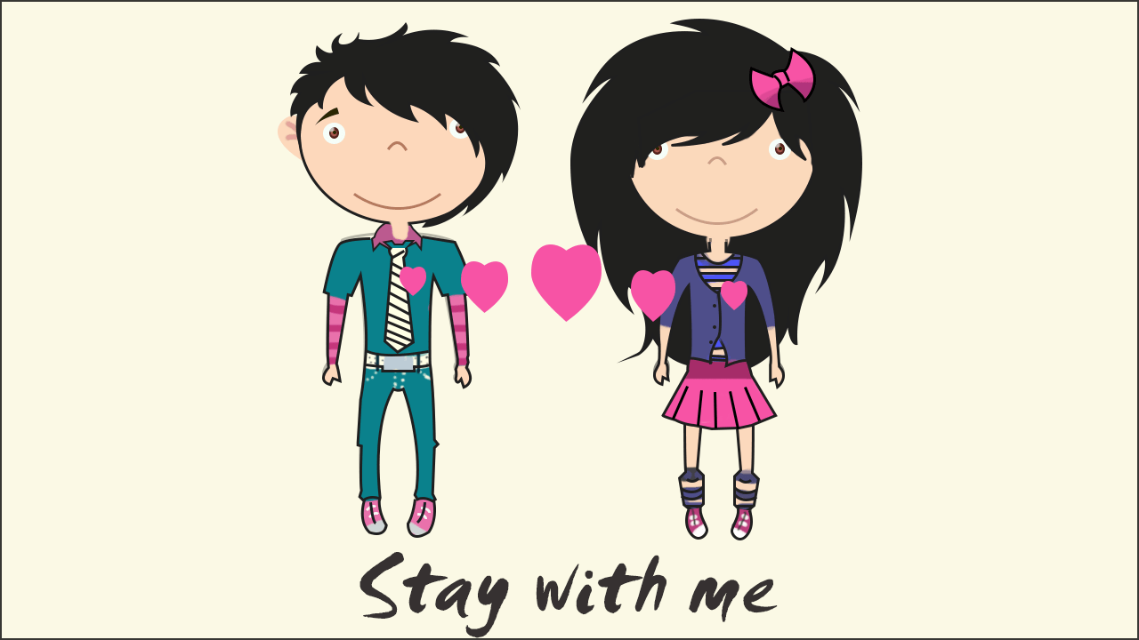 1280x720 Emo Love Cartoons Pictures