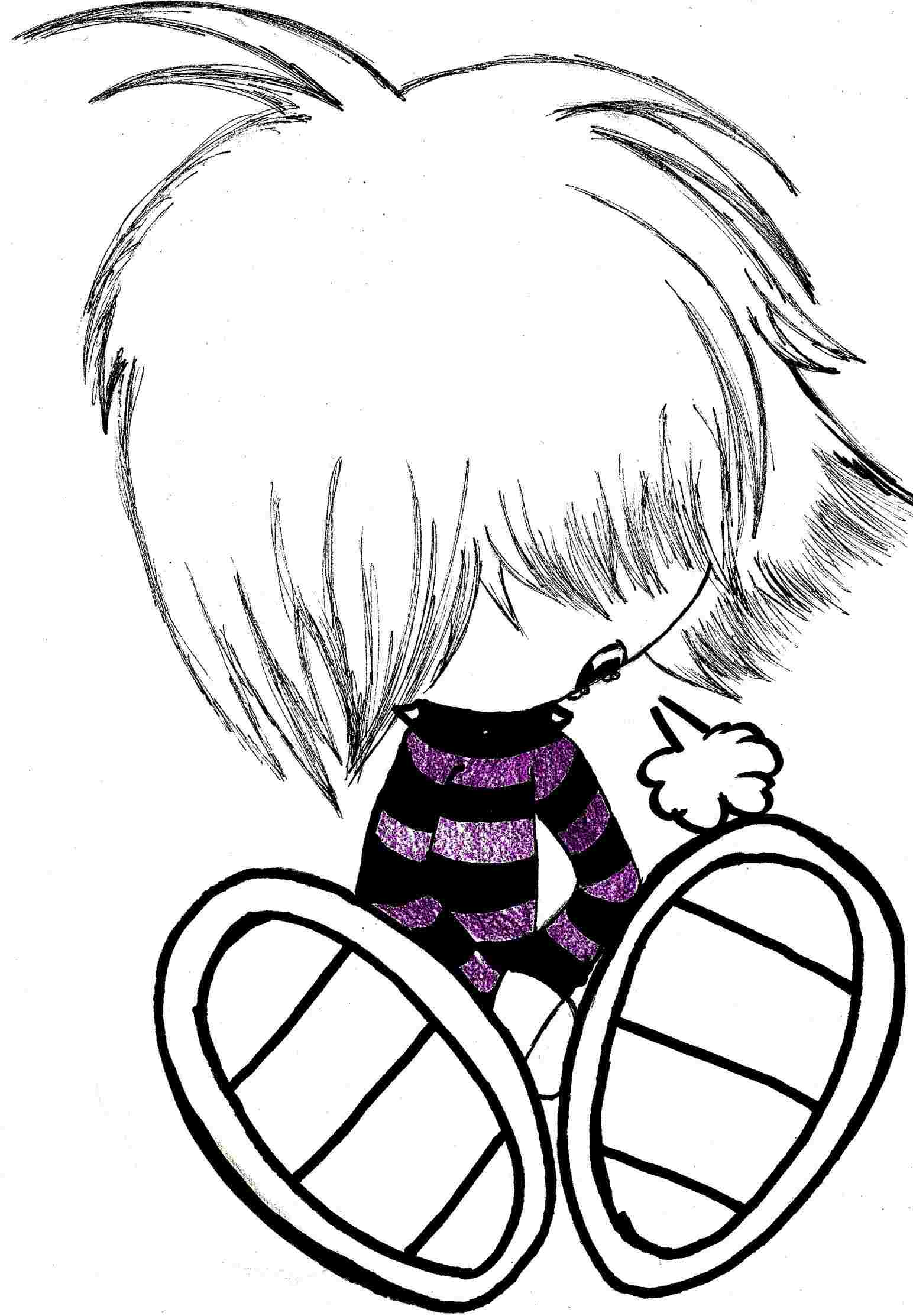 1544x2226 Cute Emo Couples For Free The Top Drawn Cartoon