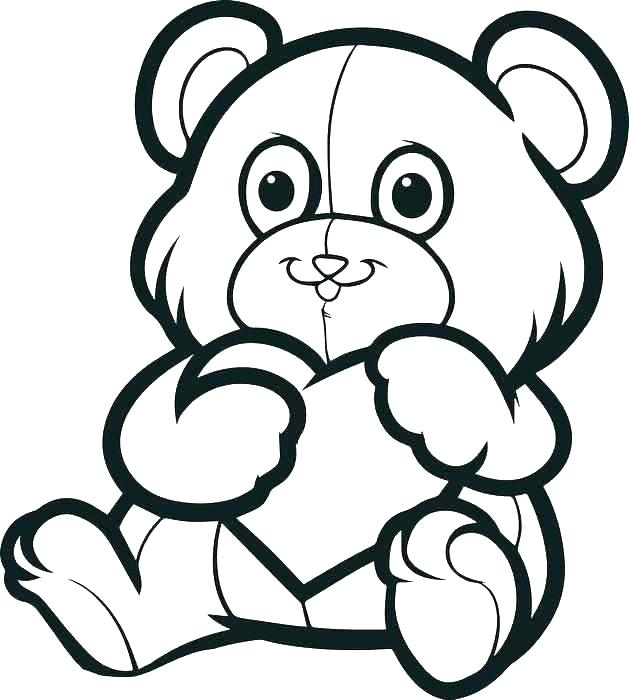 629x700 Teddy Bear Coloring