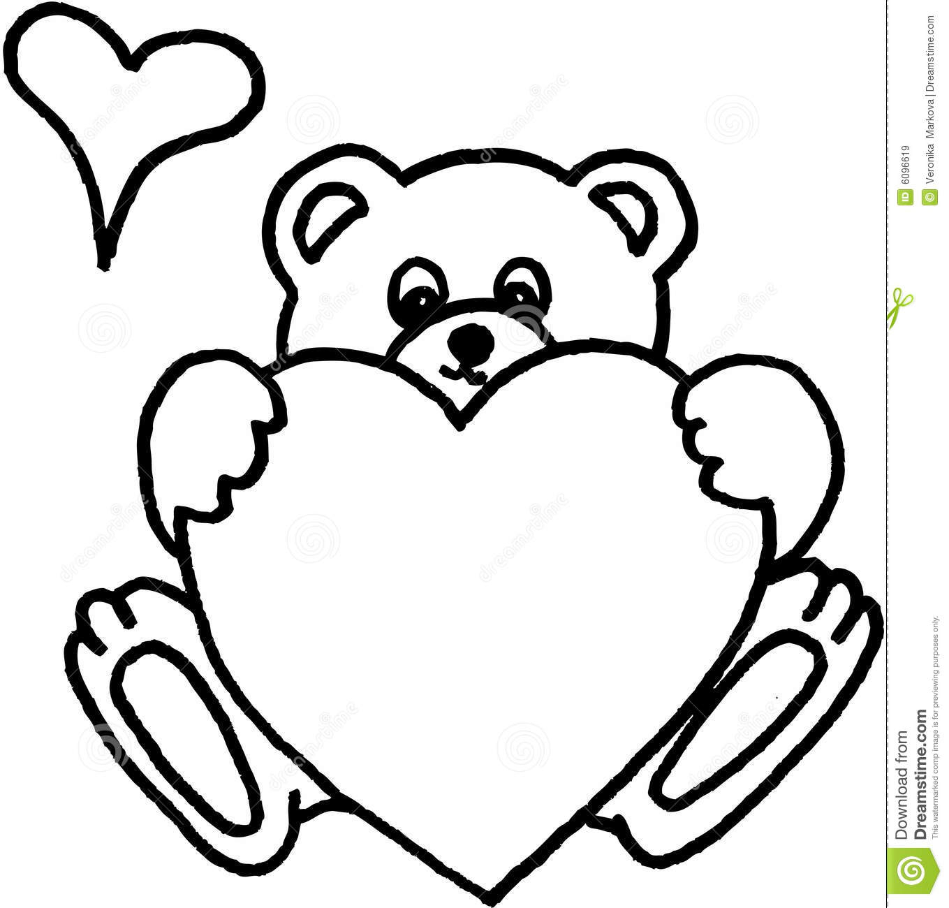 1359x1300 Bear Drawing Heart For Free Download