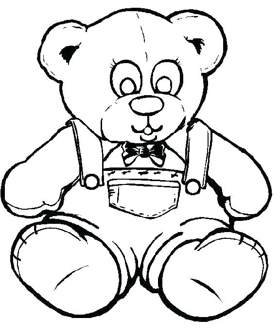 576x690 Teddy Bear Coloring Sheet Pages Sheets Free Printable Pig Book
