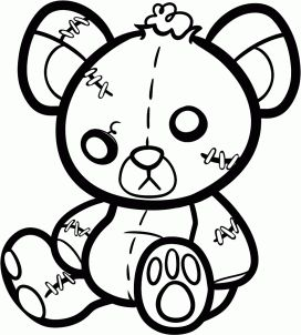272x302 Beat Up Teddy Bear Tattoo