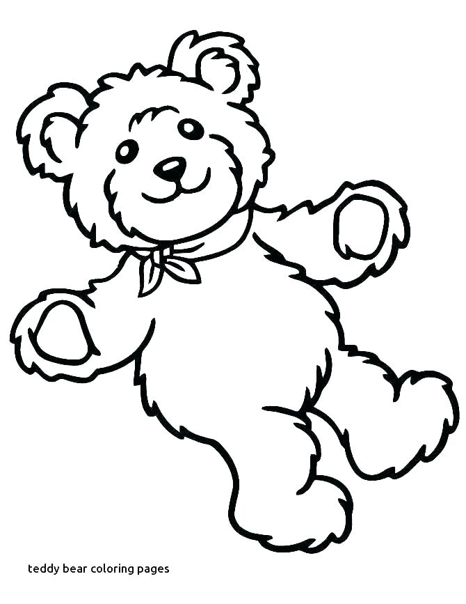 670x867 Teddy Bear Coloring Sheets Print