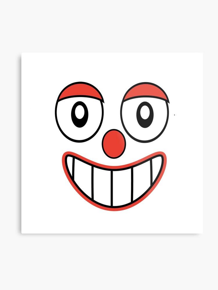 750x1000 Happy Clown Emoji Drawing Metal Print