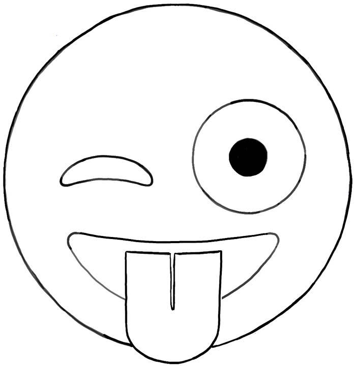 700x718 How To Draw Emojis Winking With Tongue Out Face Drawing Tutorial
