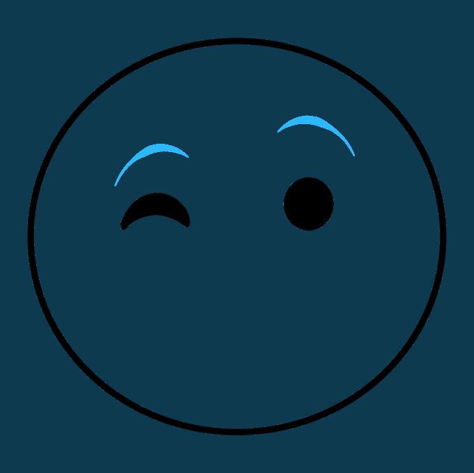 680x678 How To Draw A Kiss Emoji