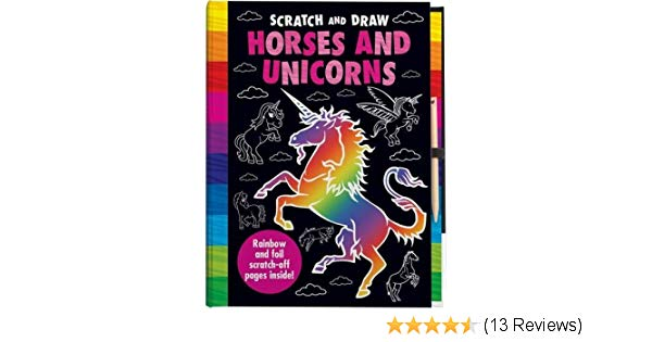 600x315 scratch and draw horses and unicorns imagine that