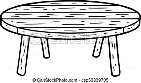 450x264 Line Drawing Of A Wooden Table