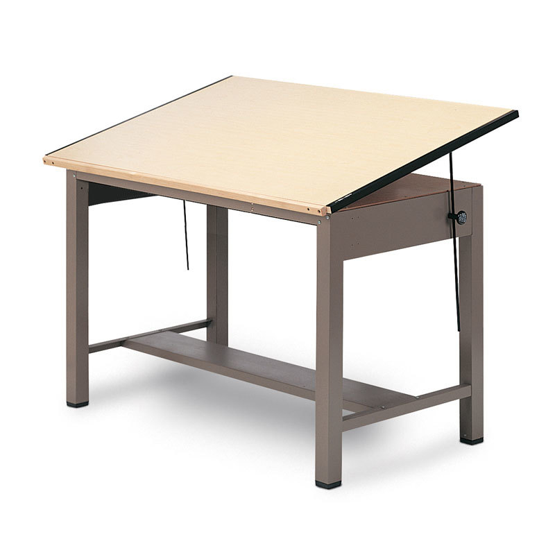 800x800 Mayline Ranger Steel Four Post Drawing Table Free Shipping!