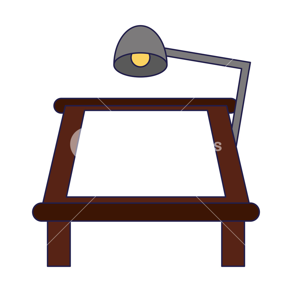 1000x1000 Drawing Table With Desk Light Vector Illustration Graphic Design