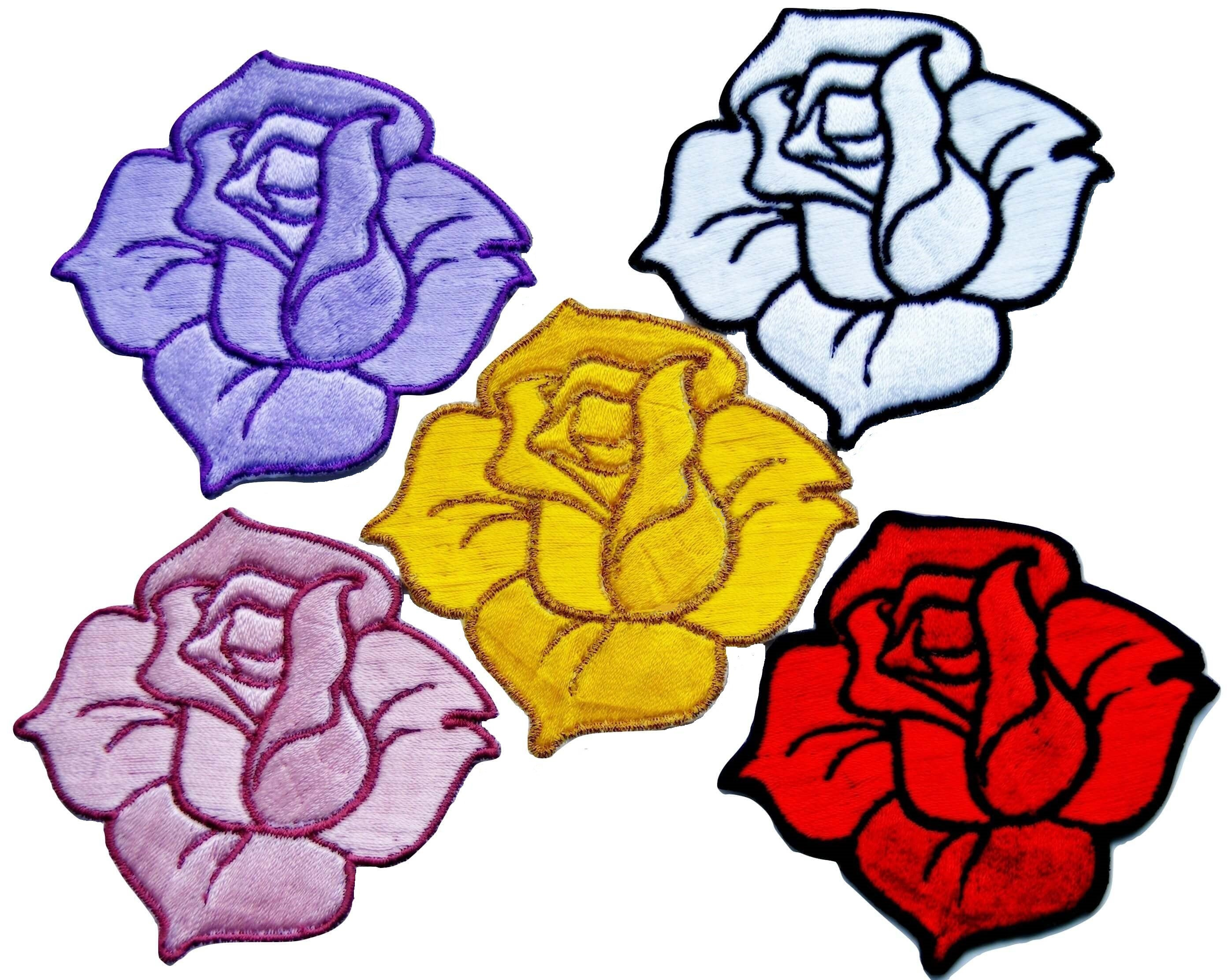2786x2223 roses patch embroidered iron on rose patch backpack badge rose etsy