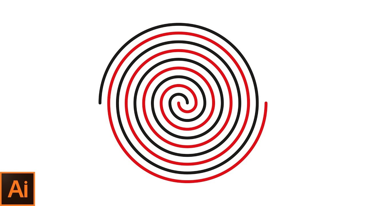 1280x720 how to draw a perfect spiral in adobe illustrator adobe