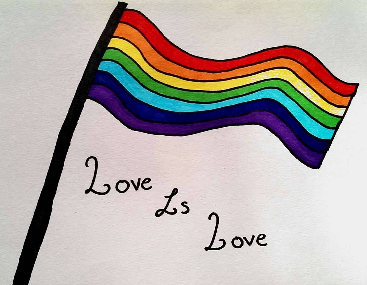 1280x994 Lgbtqiap Support And Equality {picture Of A Drawing
