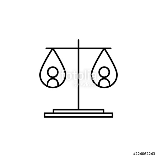 500x500 Equality Of Weights Icon Element Of Peace Icon For Mobile Concept