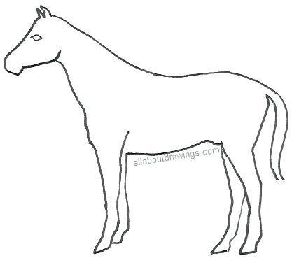 417x369 Draw Horse Easy Easy To Draw Horse