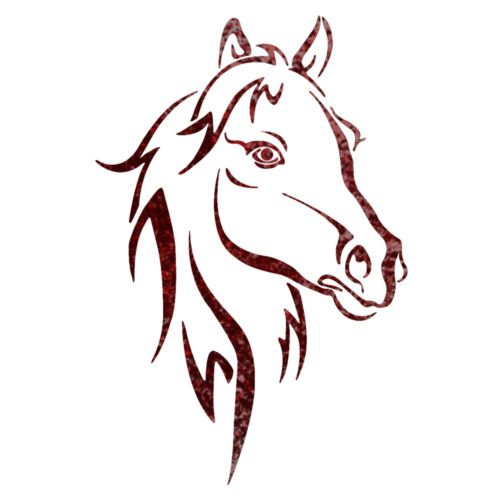 500x500 Horse Head Animal Wall Stencils For Wall Art Decor