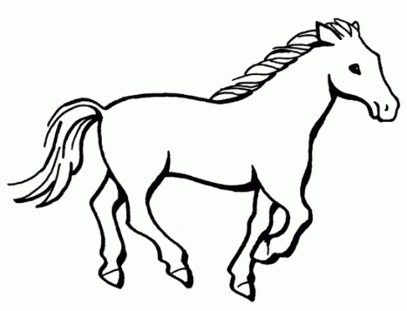580x443 Horse Drawing Easy Clip Art