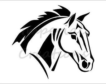 340x270 Side Profile Horse Etsy
