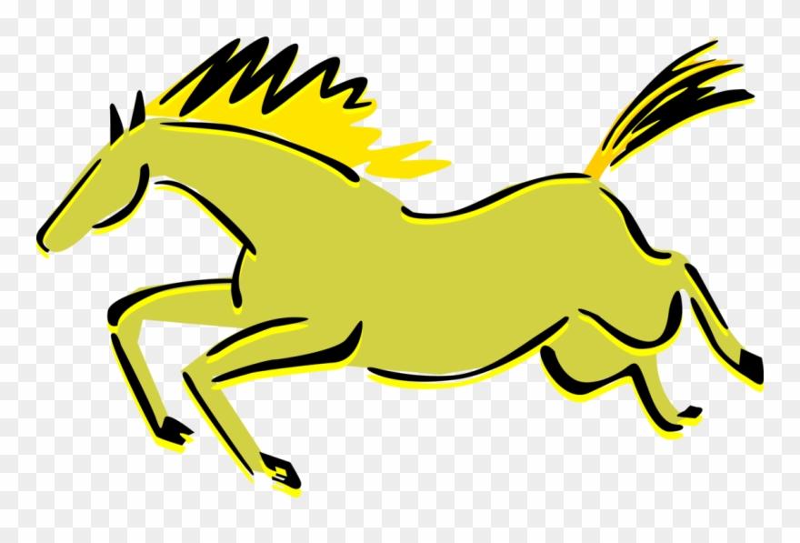 880x597 Vector Illustration Of Quadruped Equine Horse Cave
