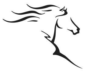 288x236 Abstract Horse Black And White