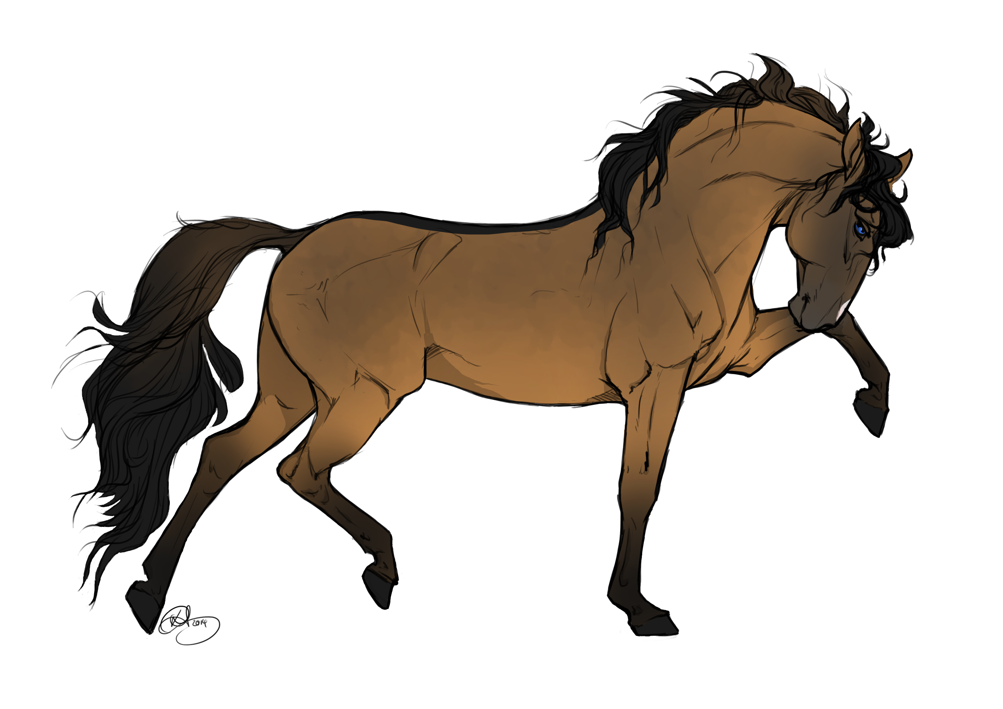 3508x2480 Collection Of Free Horses Drawing Abstract Download On Ui Ex