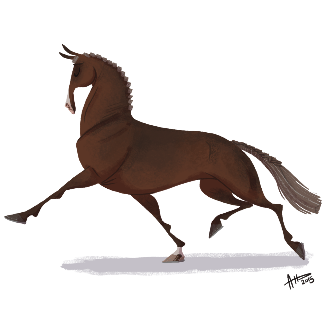 1280x1280 Daily Horse Drawings Dhd Pompous Dressage Horse