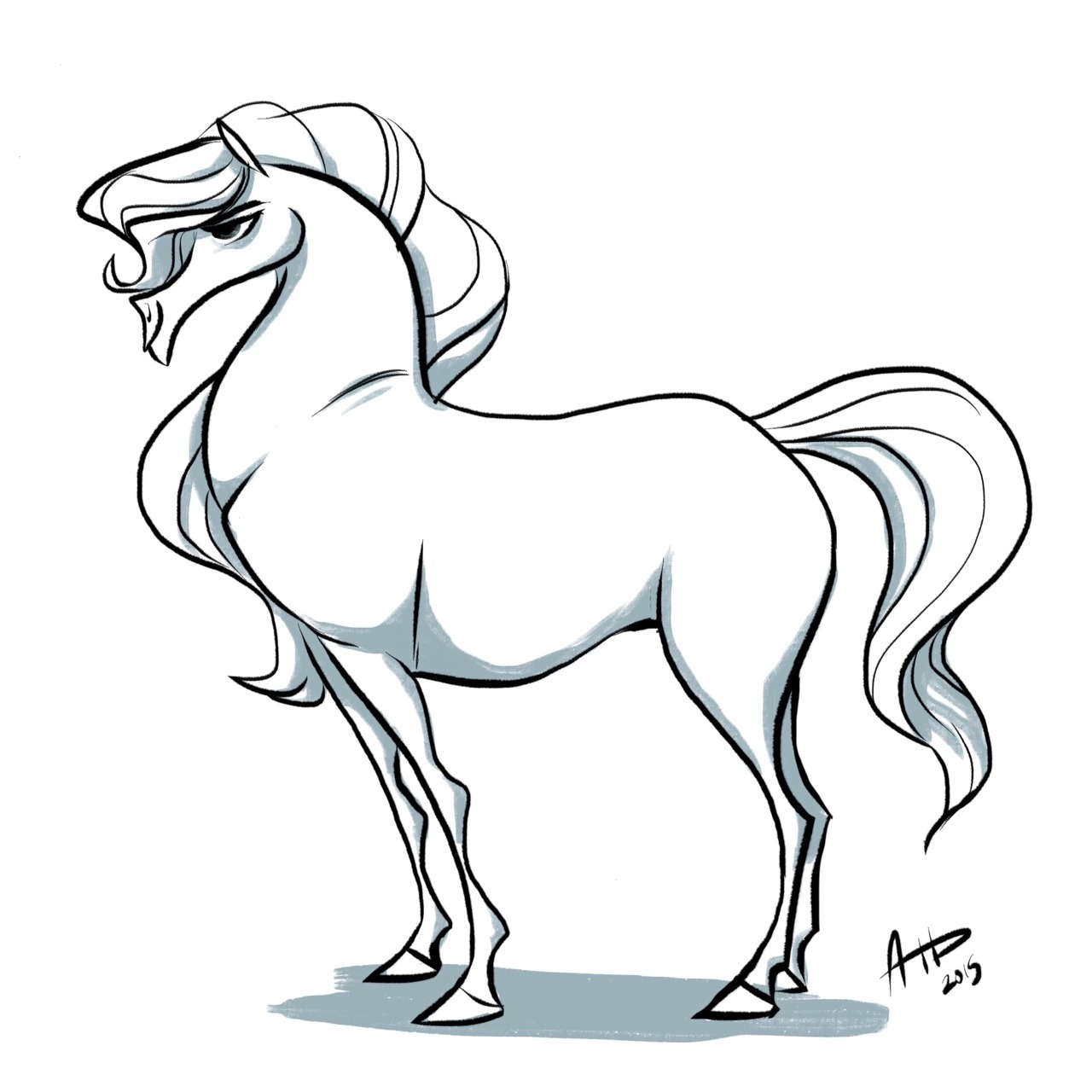 1280x1280 Daily Horse Drawings
