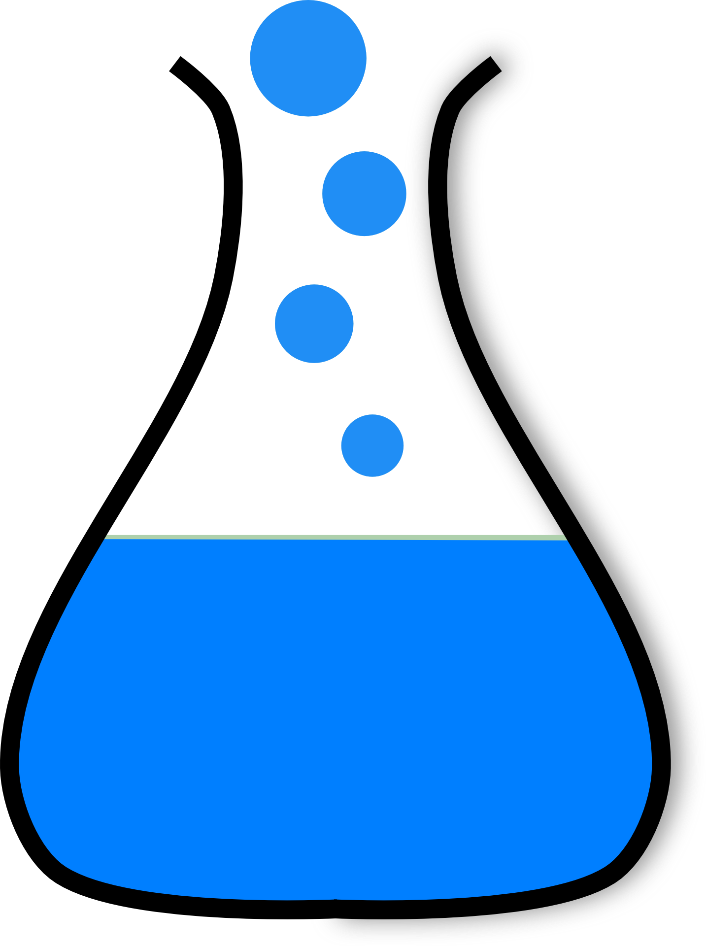 1433x1920 Drawn Erlenmeyer Flask Free Image