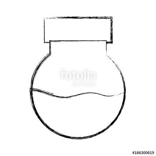 500x500 Figure Erlenmeyer Flask To Scientific Experiment Lab Stock Image