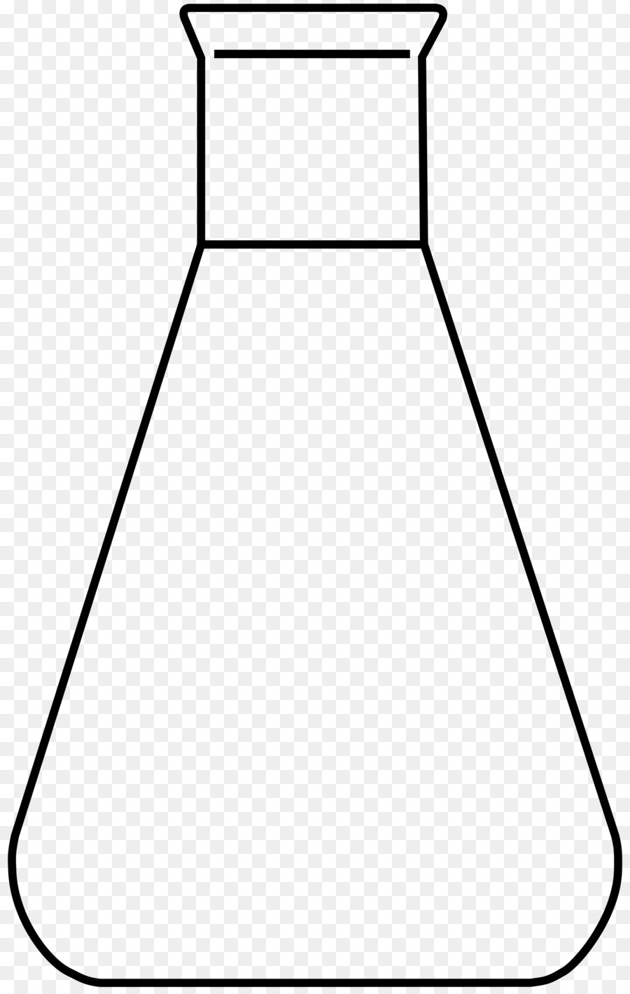 900x1420 Beaker, Drawing, White, Transparent Png Image Clipart Free Download