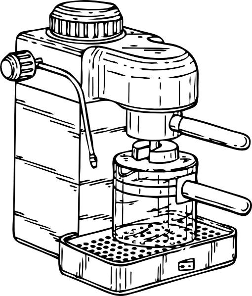 510x598 Espresso Maker Clip Art Free Vector In Open Office Drawing