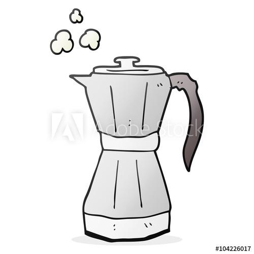 500x500 Cartoon Stovetop Espresso Maker