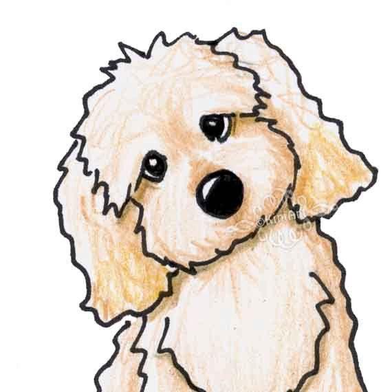 570x570 Cavapoo Original Dog Art Illustration Aceo
