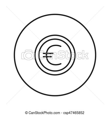 450x470 coin euro vector clip art illustrations coin euro clipart