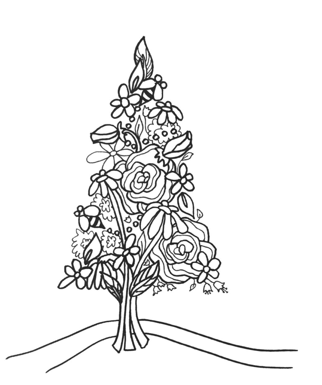 1038x1241 trees coloringpages original art coloring book for tree