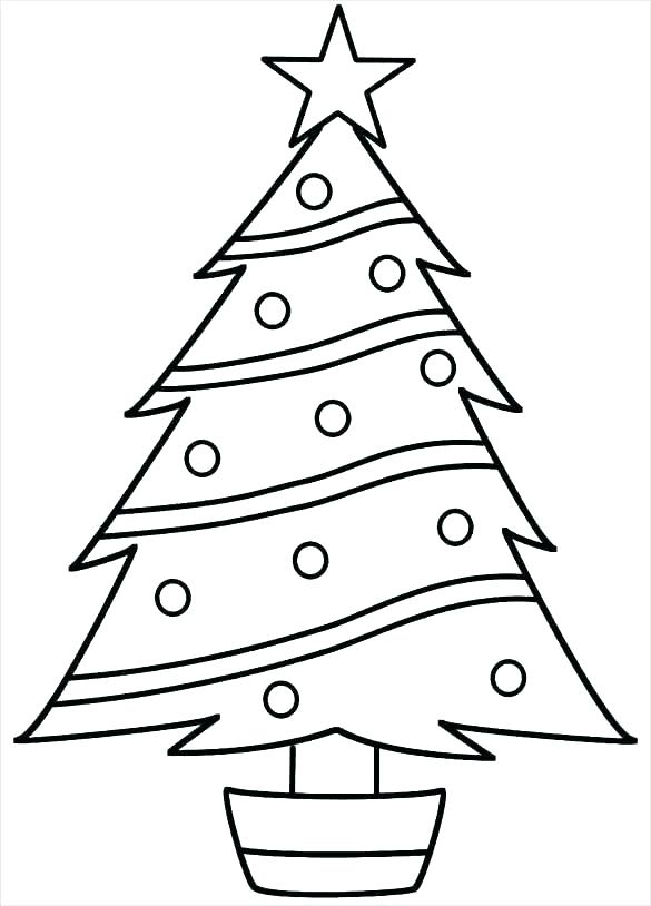 585x814 Coloring Pages Evergreen Trees