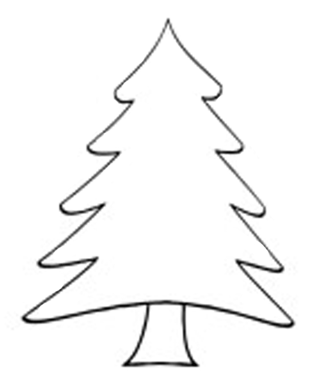 620x755 Christmas Tree Outline Christmas Tree Drawing Outline