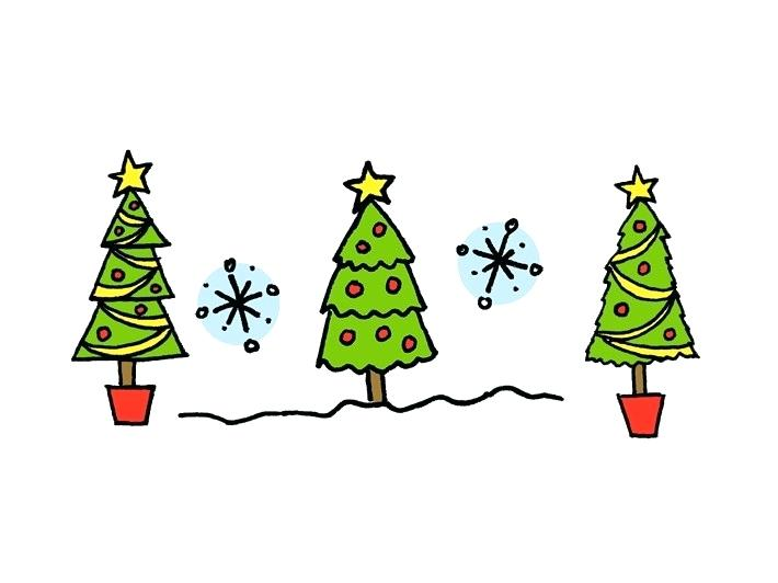 710x532 drawing a christmas tree how to draw a tree christmas tree drawing