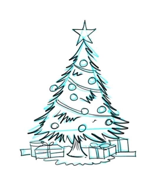 550x643 drawing a christmas tree tree drawing quotes christmas tree