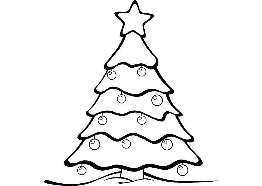 900x640 Drawing Of A Christmas Tree Christmas Tree Drawing Pictures