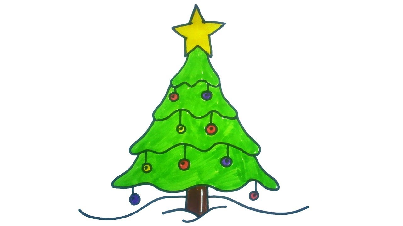 1280x720 Diy Christmas Tree Drawings To Do With The Kids